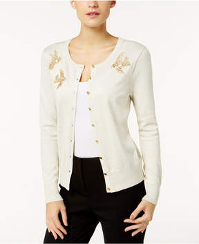 Charter Club Embroidered Birds Cardigan, Created for Macy's