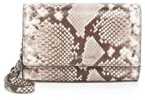MICHAEL Michael Kors Ruby Leather Clutch - Beige - BEIGE - STYLE