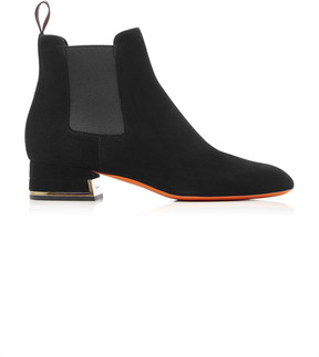 Santoni Demi Suede and Metallic Boots