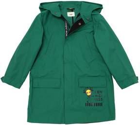 Fendi Cotton Gabardine Blend Parka Coat
