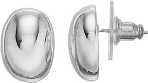 Dana Buchman Oval Button Stud Earrings