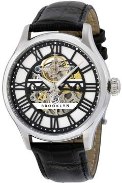 Co Brooklyn Watch Brooklyn Bridgewater Skeleton Automatic Silver Dial Men's Watch