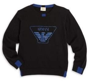 Armani Junior Little Boy's & Boy's Logo Sweater