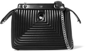 Fendi - Dotcom Click Small Quilted Leather Shoulder Bag - Black