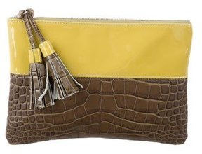 Suno Embossed Leather Clutch w/ Tags