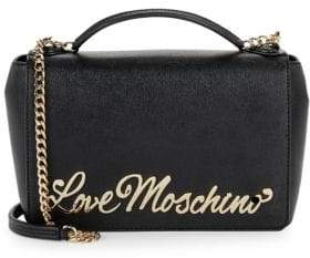 Love Moschino Cursive Logo Saffiano Crossbody Bag