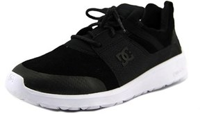 DC Heathrow Pres Youth Round Toe Leather Black Skate Shoe.