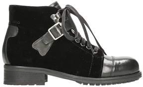 Julie Dee Velvet Ankle Boots