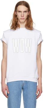 MSGM White Wow T-Shirt