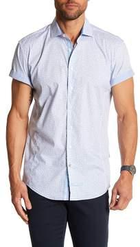 English Laundry Swirl Print Classic Fit Short Sleeve Shirt