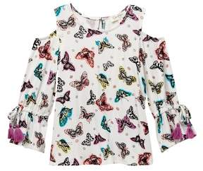 Jessica Simpson Orion Butterfly Cold-Shoulder Top (Big Girls)