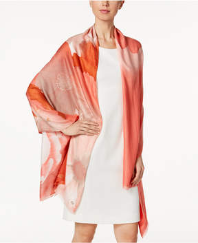 Calvin Klein Place Floral Wrap & Scarf in One