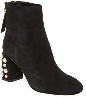 Alice + Olivia Women's Mulberry Pearl Studded Bootie
