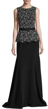 Oscar de la Renta Women's Peplum Top & Fishtail Skirt Gown