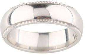 Tiffany & Co. Platinum Milgrain Wedding Band Ring Size 7.5