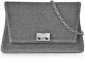 Rodo Silver and Black Lurex Crossbody Clutch