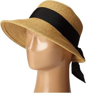 Scala Paper Braid Facesaver with Ribbon Bow Safari Hats