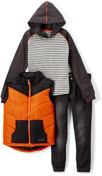 DKNY Heather Light Gray Vest Set - Infant, Toddler & Boys