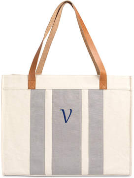 Cathy's Concepts Personalized Gray Stitched Tote