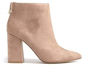 Forever 21 Faux Suede Pointed Ankle Boots