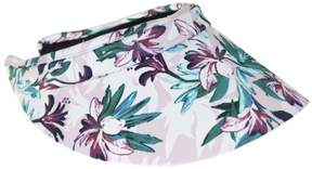 Nine West Womens Tropical Floral Print Visor One Size Pink/green