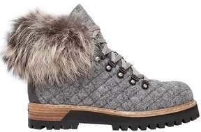 Le Silla 30mm Felt & Fox Fur Trekking Boots
