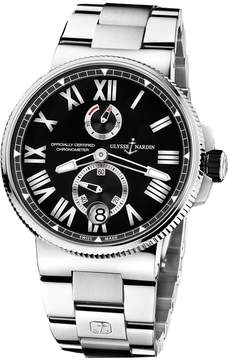 Ulysse Nardin Marine Black Dial Stainless Steel Automatic Men's Watch