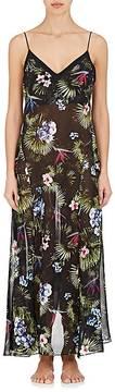 Fleur Du Mal Women's Tropical-Print Silk Slipdress