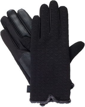 Isotoner Qulited Textured Glove W/ with smarTouch Technology