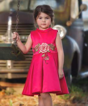 Bardot Fuchsia Floral A-Line Dress - Toddler