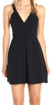 BCBGeneration Womens Deep V-Neck Sleeveless Cocktail Dress