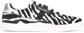 Dolce & Gabbana London zebra print sneakers