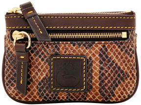 Dooney & Bourke Snake Small Coin Case - BROWN - STYLE