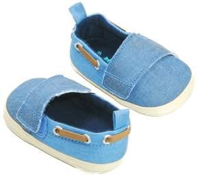 Osh Kosh Baby Boy Laced Chambray Crib Shoes