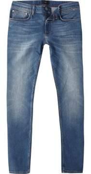 River Island Mens Mid blue wash Sid skinny jeans