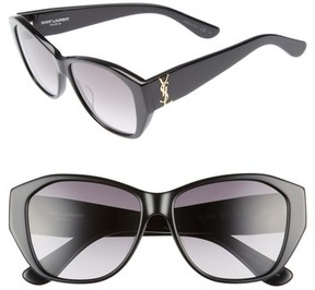 Saint Laurent Women's 56Mm Sunglasses - Black/ Black/ Grey