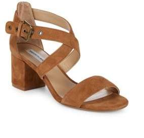 Saks Fifth Avenue Strappy Suede Block Heel Sandals