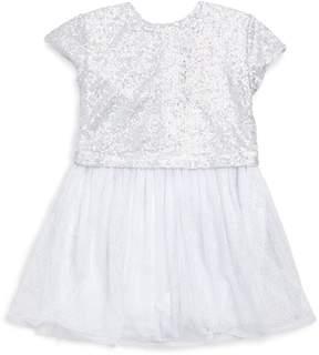 Catimini Little Girl's & Girl's Sequin Flare T-Shirt Dress