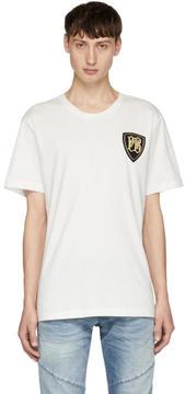 Pierre Balmain White Crest Logo T-Shirt