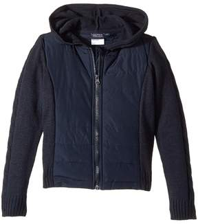 Nautica Quilted Hoodie Sweater Girl's Sweater