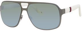Safilo USA Gucci Rectangle Sunglasses