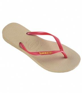 Havaianas Women's Slim Logo Metallic Flip Flop 8117382