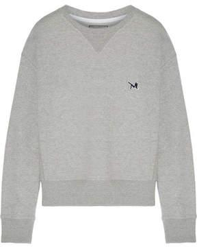 Calvin Klein Appliquéd Cotton-jersey Sweatshirt - Gray