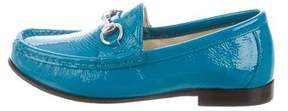 Gucci Girls' Patent Leather Horsebit Loafers w/ Tags