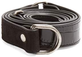 SAINT LAURENT Contrast-panel leather and suede waist belt