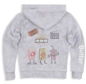 Butter Shoes Girl's Cotton Zipped Hoodie