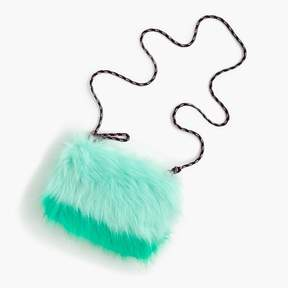 J.Crew Girls' furry colorblock pouchette bag