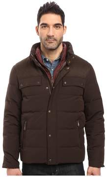 Cole Haan Utility Down Quilted Military Jacket Men's Coat