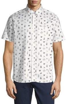 Michael Bastian Printed Cotton Button-Down Shirt