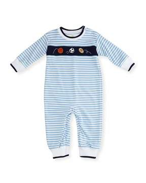 Florence Eiseman Striped Knit Sport Balls Coverall, Size 3-24 Months